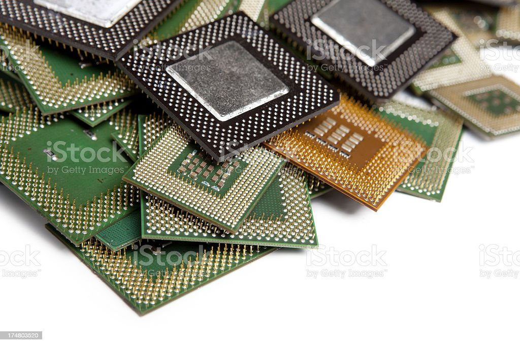 Stack processors computer XXXL stock photo