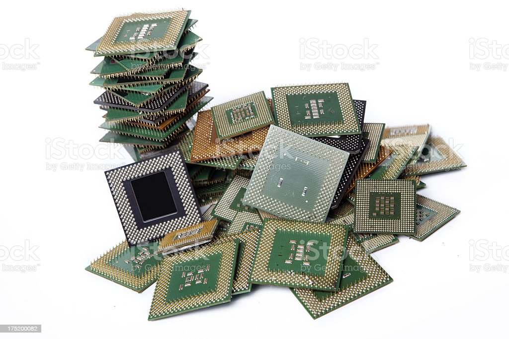 Stack processors computer XXXL stock photo