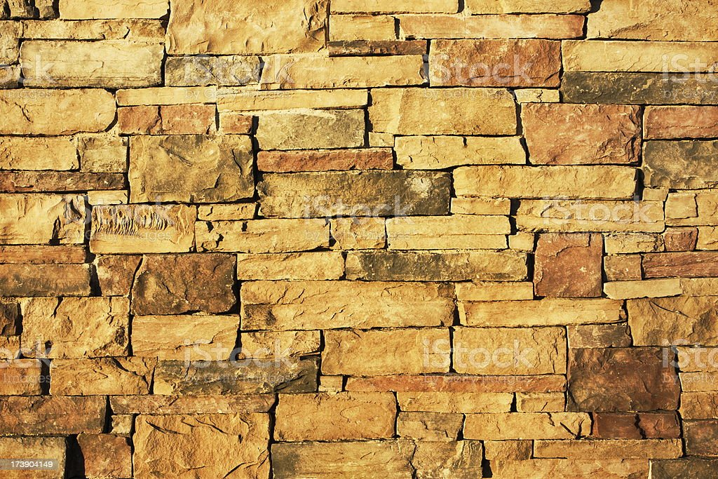 Stack Stone Wall Architecture Facade royalty-free stock photo