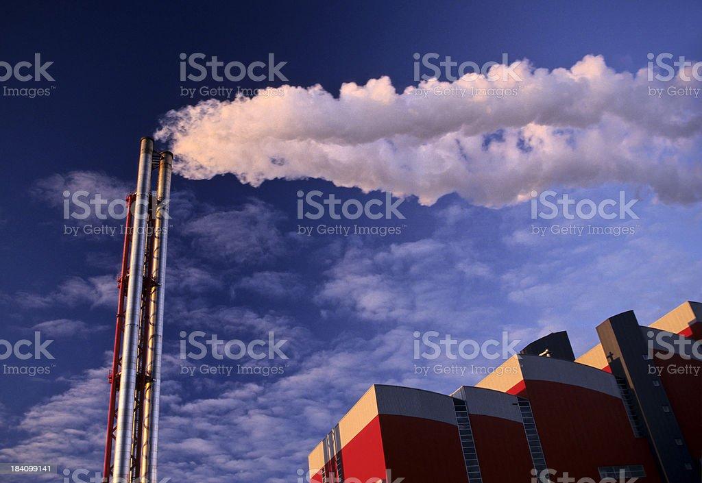 Stack with White Smoke stock photo