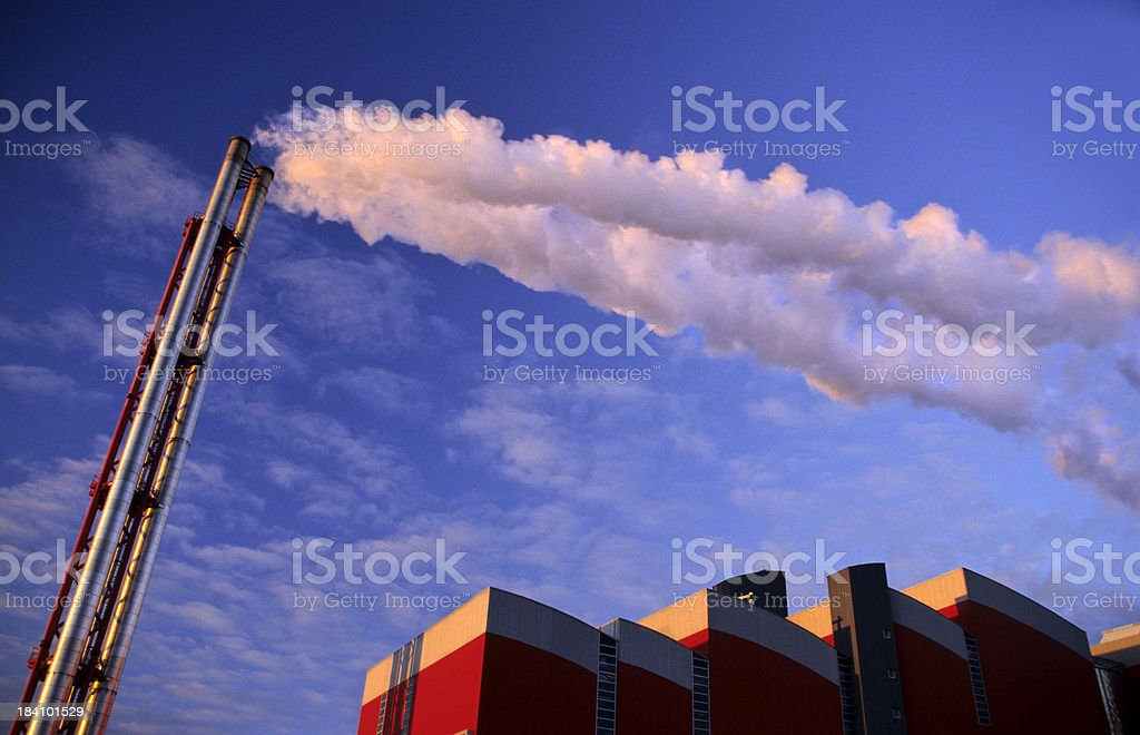 Stack with White Smoke royalty-free stock photo