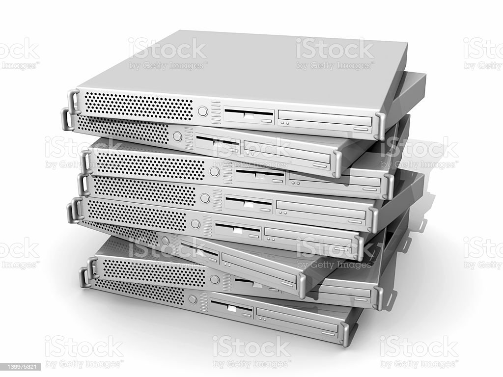 Stacked 19inch Servers royalty-free stock photo