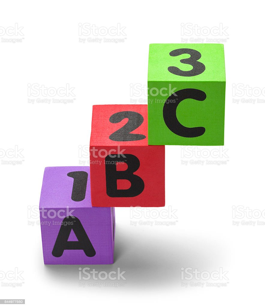 Stacked ABC Blocks stock photo