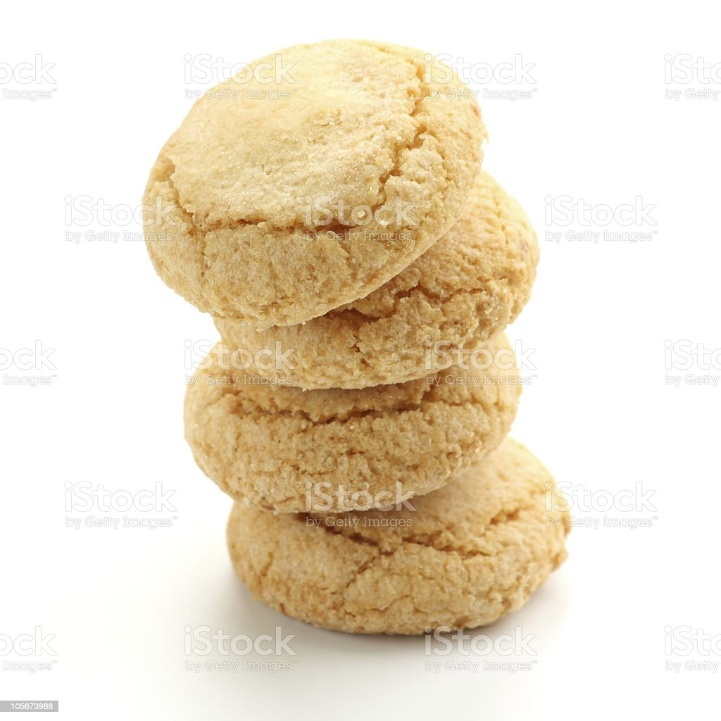 Stacked Ameretti cookies stock photo