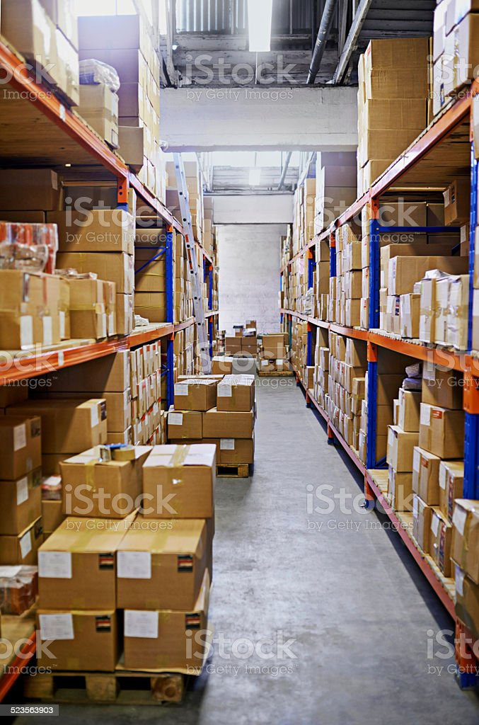Stacked and ready to be delivered stock photo