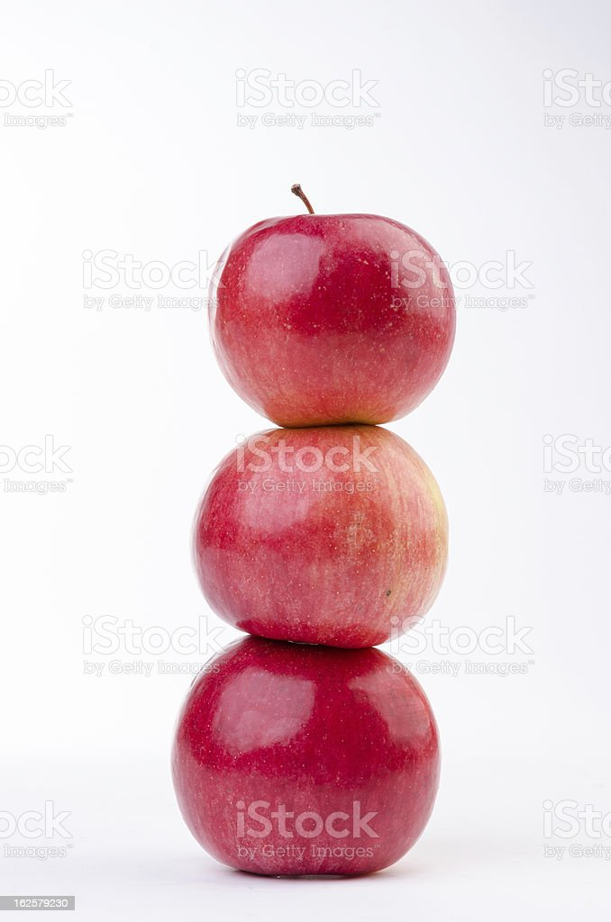 Stacked apples royalty-free stock photo
