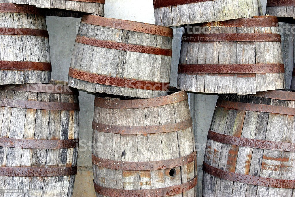 Stacked Barrels royalty-free stock photo