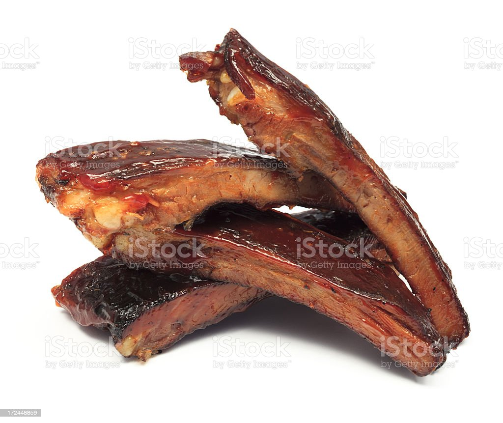 Stacked BBQ Ribs stock photo