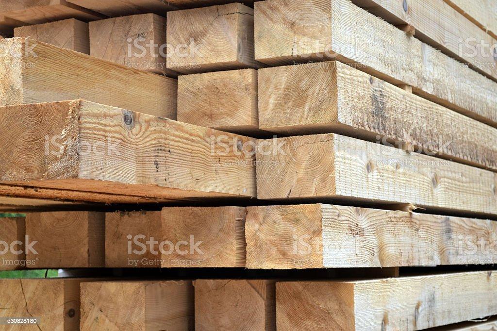 Stacked beams stock photo