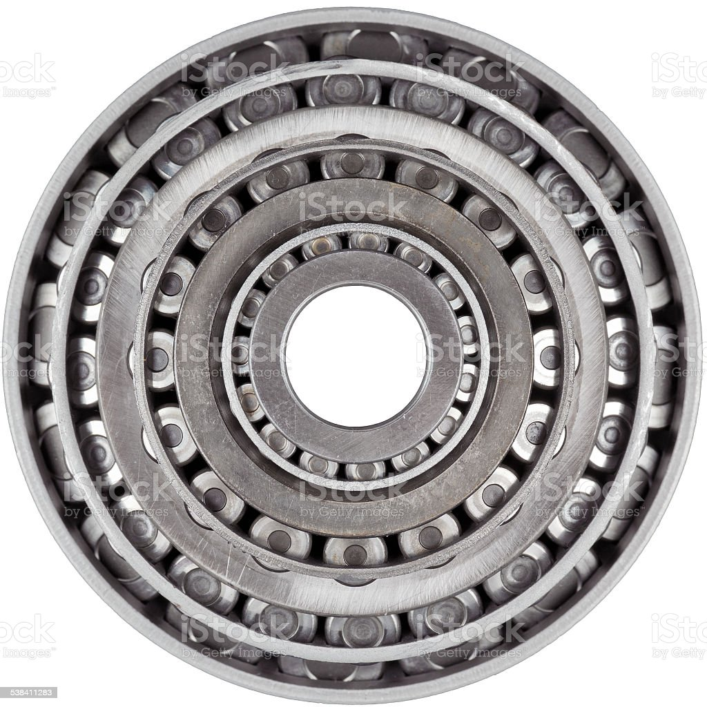 Stacked Bearings Isolated stock photo