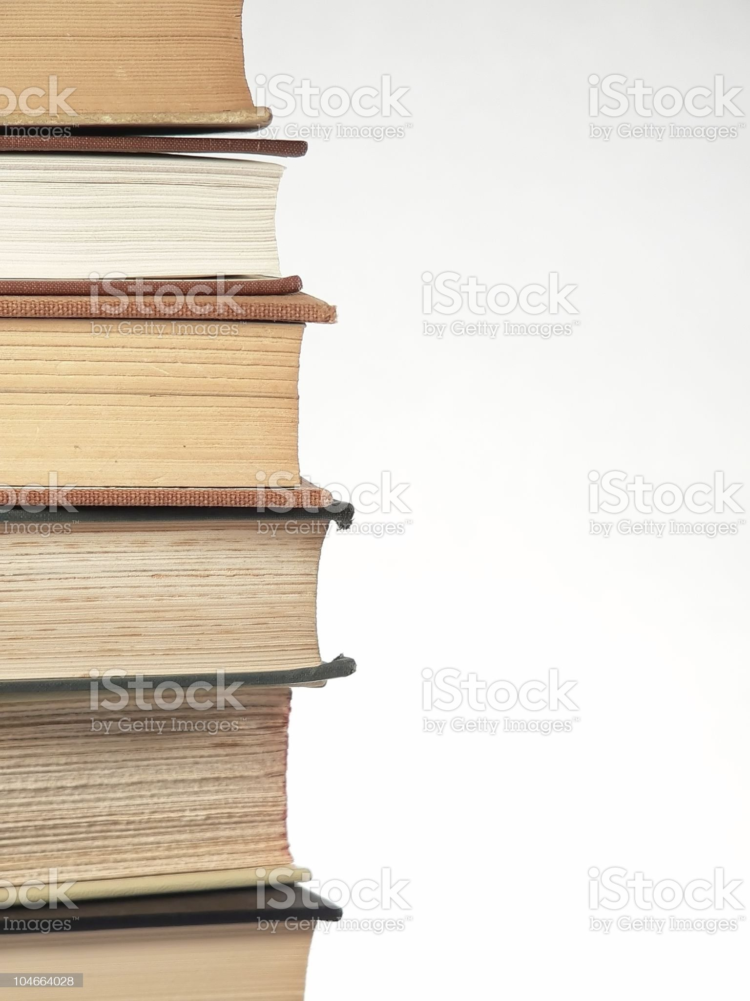 Stacked Books royalty-free stock photo