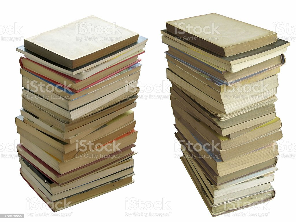 Stacked Books (Isolated) royalty-free stock photo