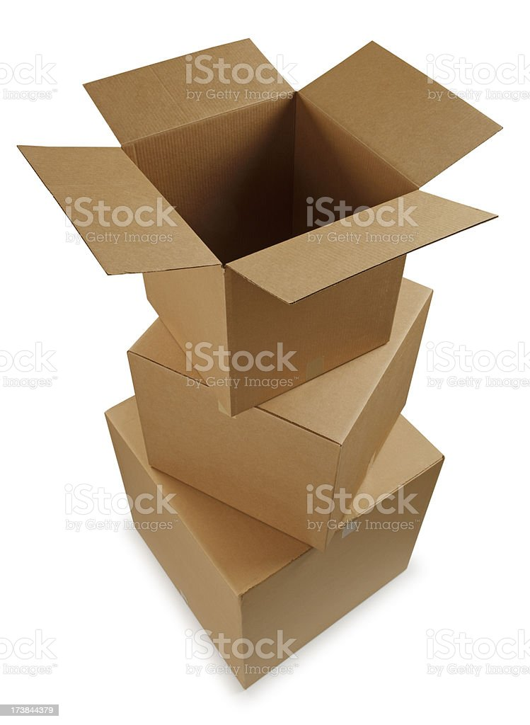 Stacked Boxes royalty-free stock photo