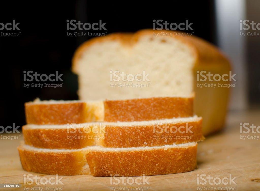 Stacked Bread stock photo
