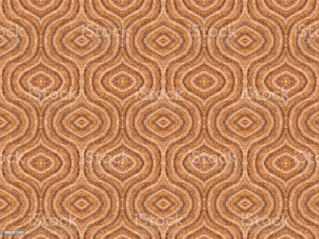 stacked brown ovoids in op art seamless pattern stock photo
