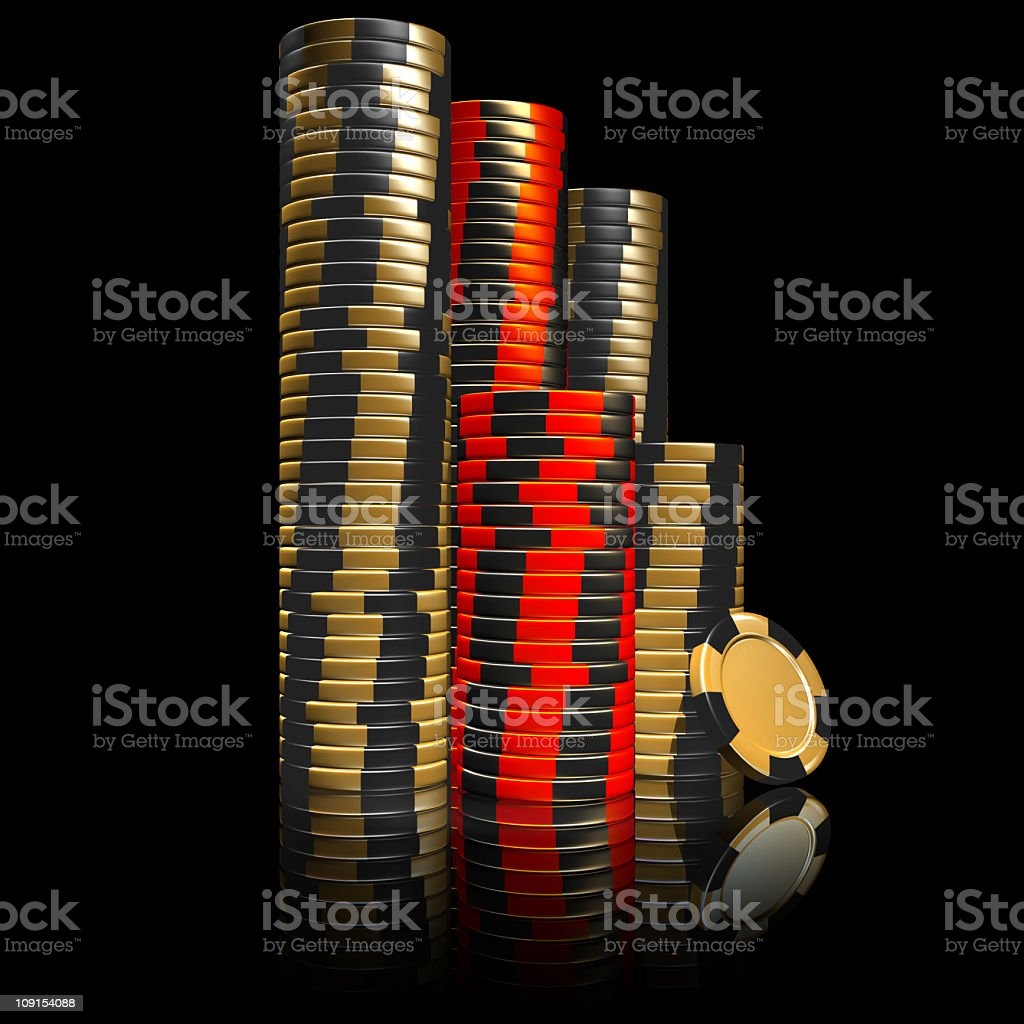 stacked casino chips royalty-free stock photo