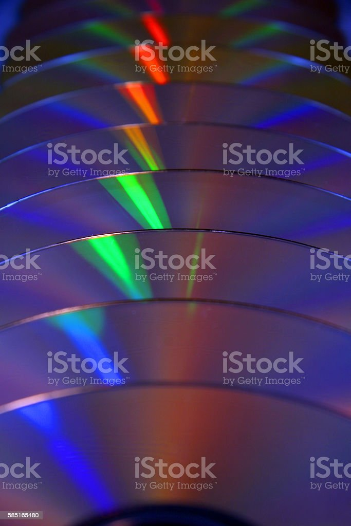Stacked CDS stock photo