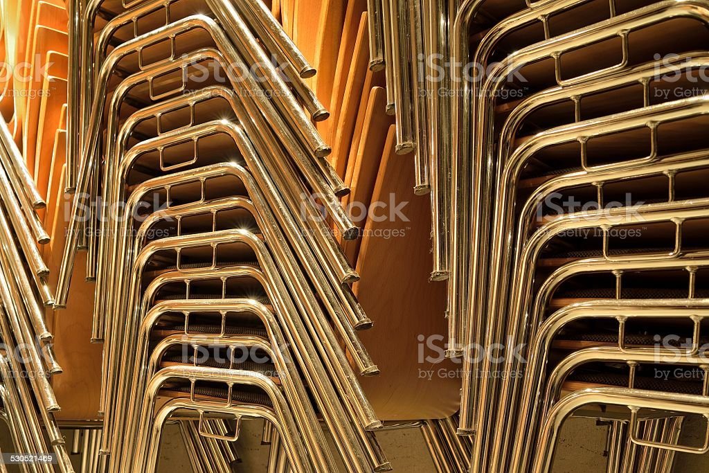 Stacked Chairs stock photo