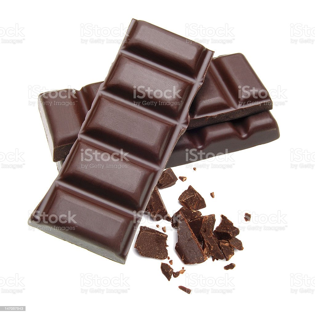 Stacked chocolate bars royalty-free stock photo