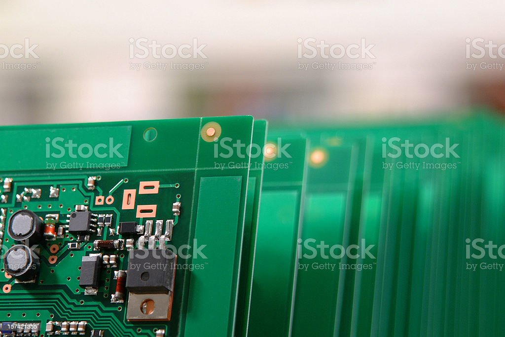 Stacked Circuit Boards stock photo