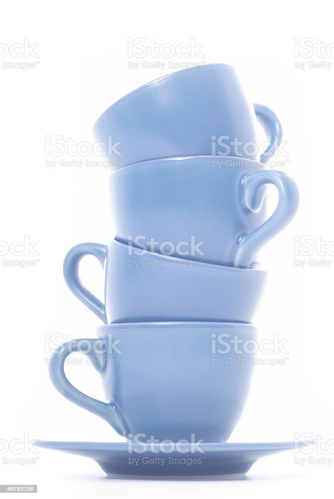 Stacked Coffee Cups royalty-free stock photo