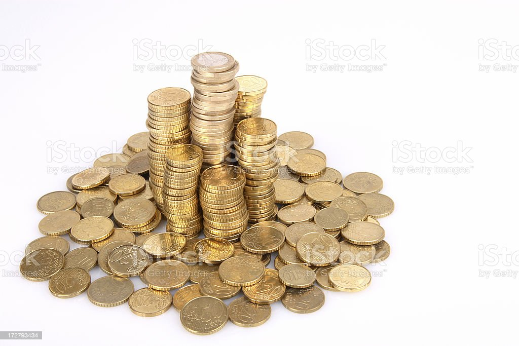 Stacked coins. royalty-free stock photo