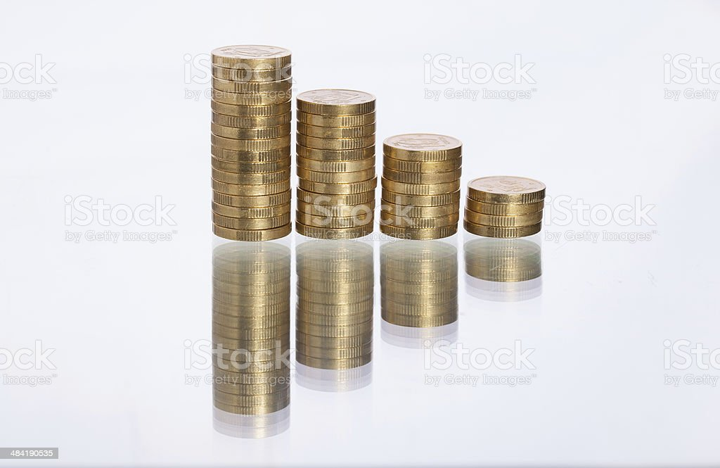 Monedas de apilado foto de stock libre de derechos