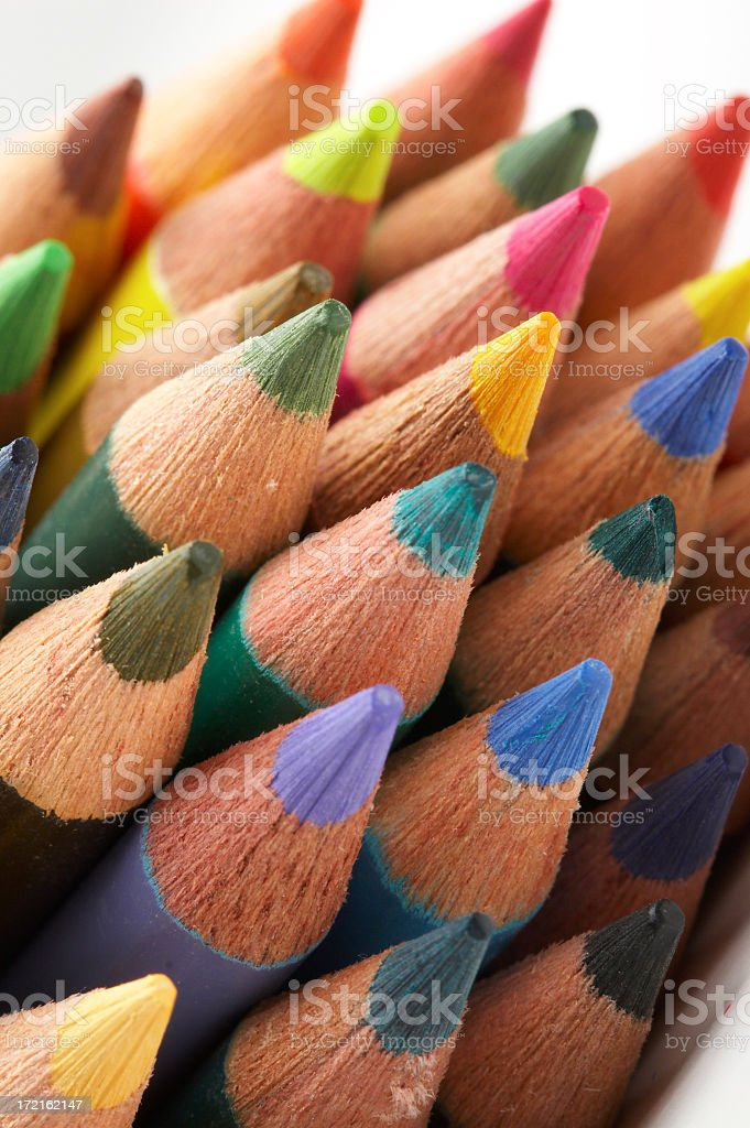 Stacked Color Pencils stock photo
