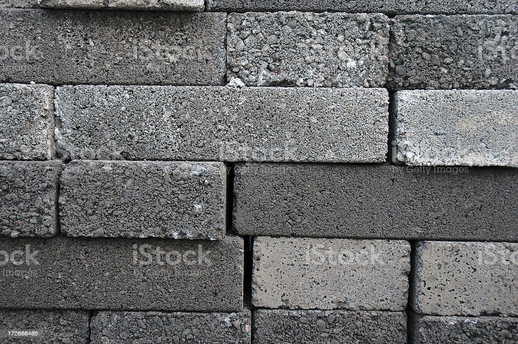 stacked concrete blocks royalty-free stock photo