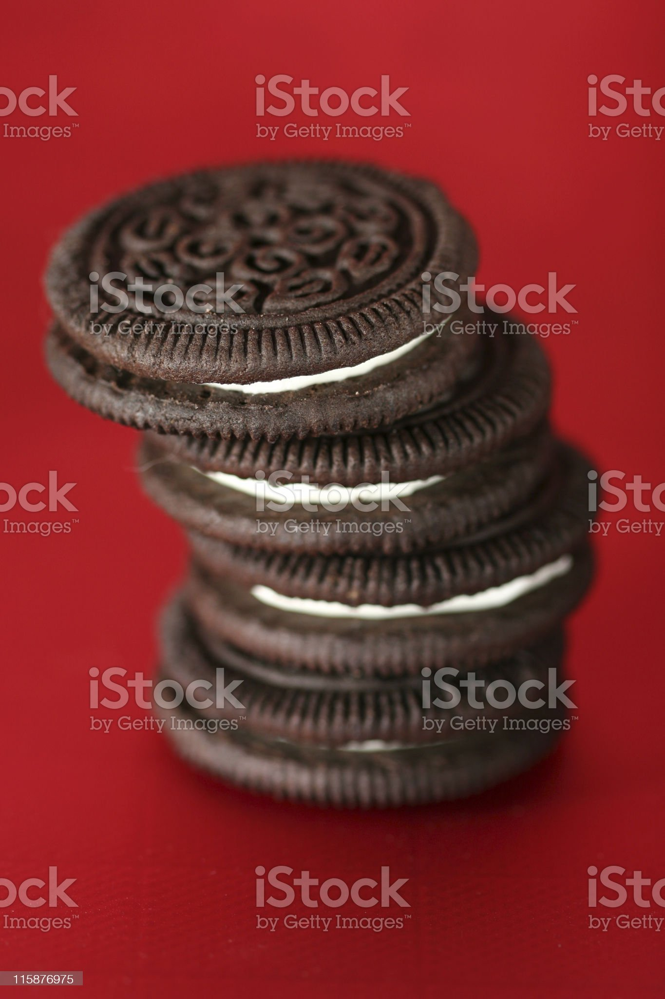 Stacked Cookies royalty-free stock photo