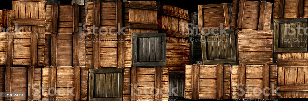 Stacked Crates stock photo
