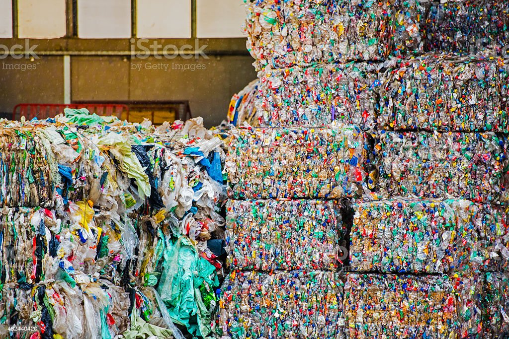 Stacked cubes of plastic stock photo