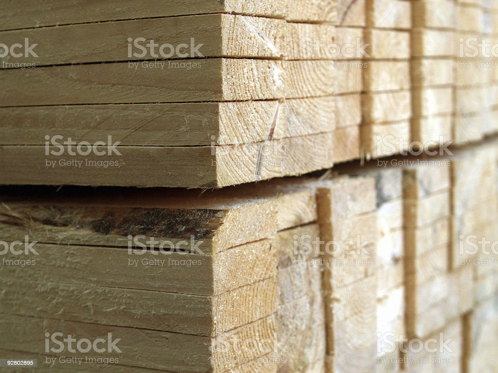 stacked cut wood royalty-free stock photo