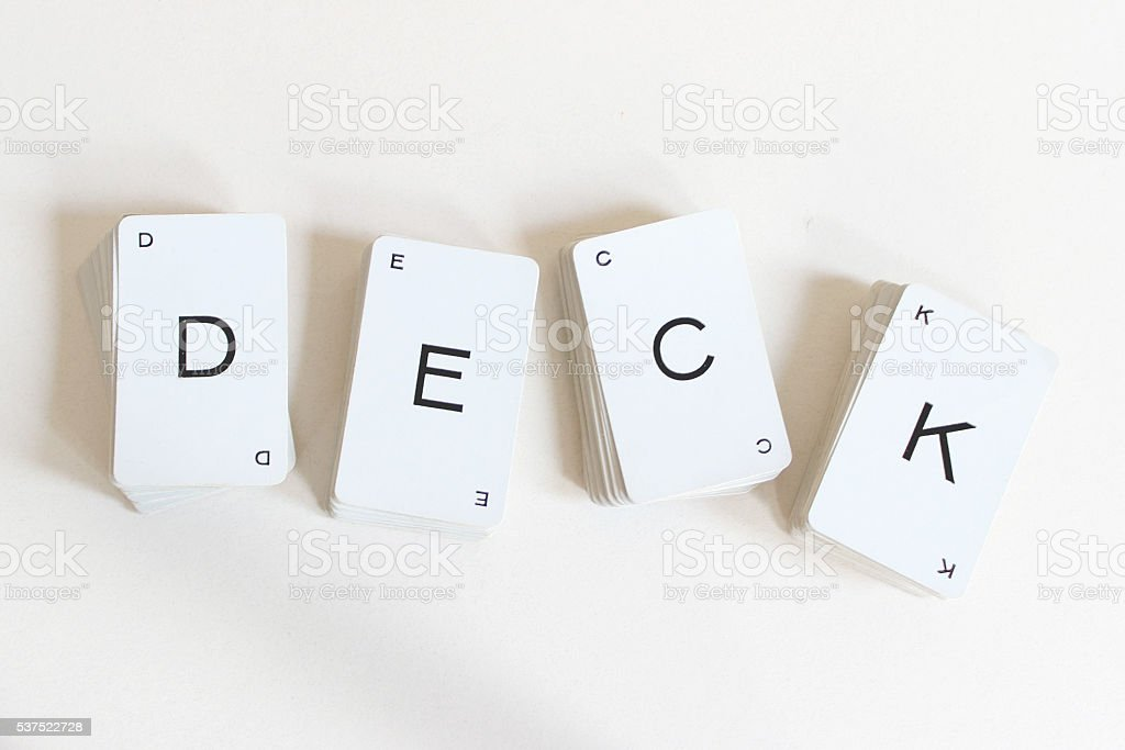 Stacked Deck stock photo