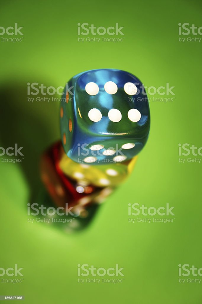 Stacked Dice royalty-free stock photo