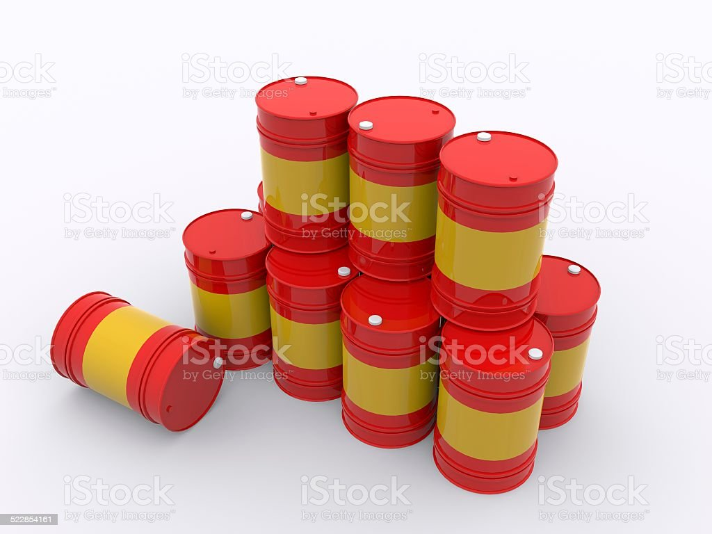 stacked drums stock photo