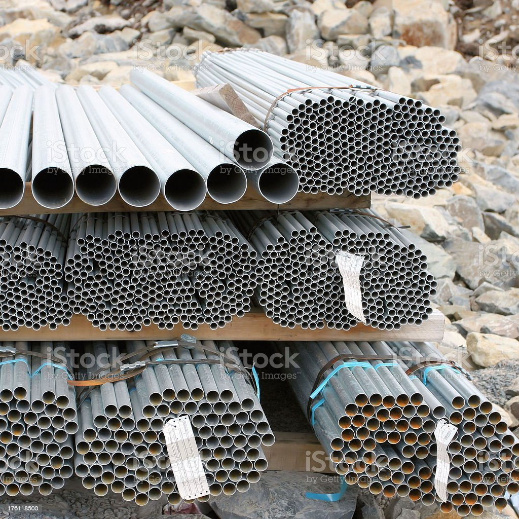 Stacked Electrical Conduit royalty-free stock photo