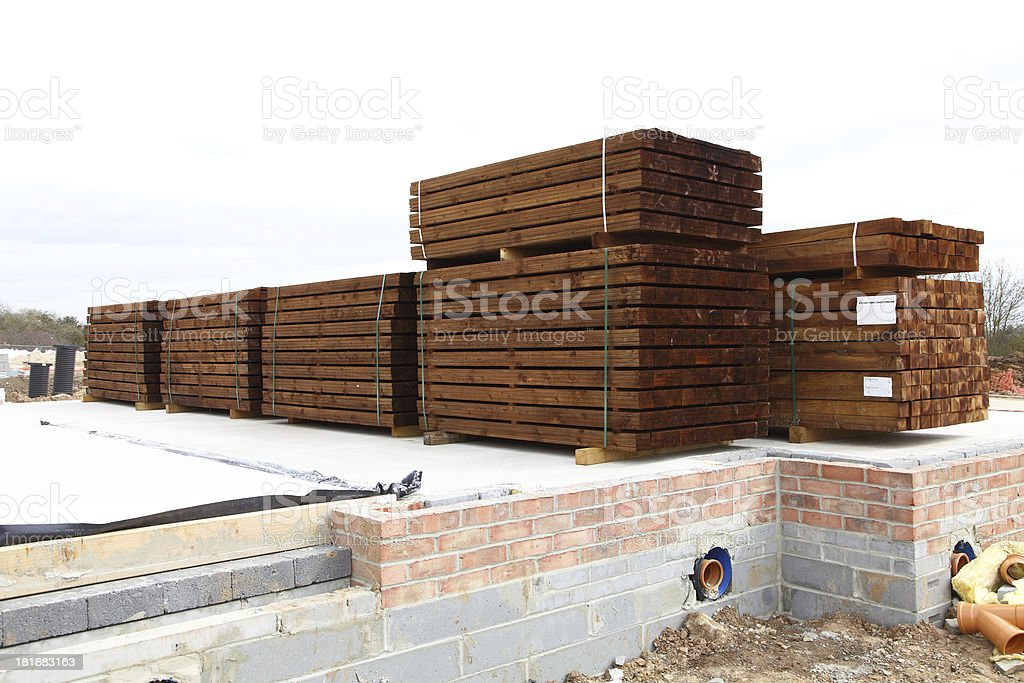 stacked fence timber royalty-free stock photo