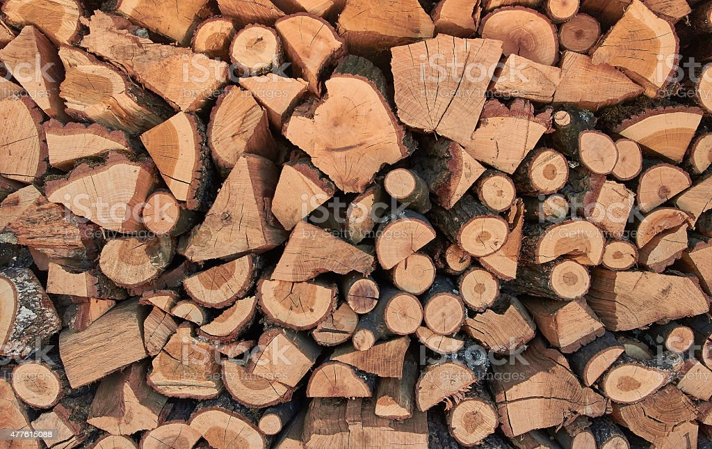 stacked firewood royalty-free stock photo