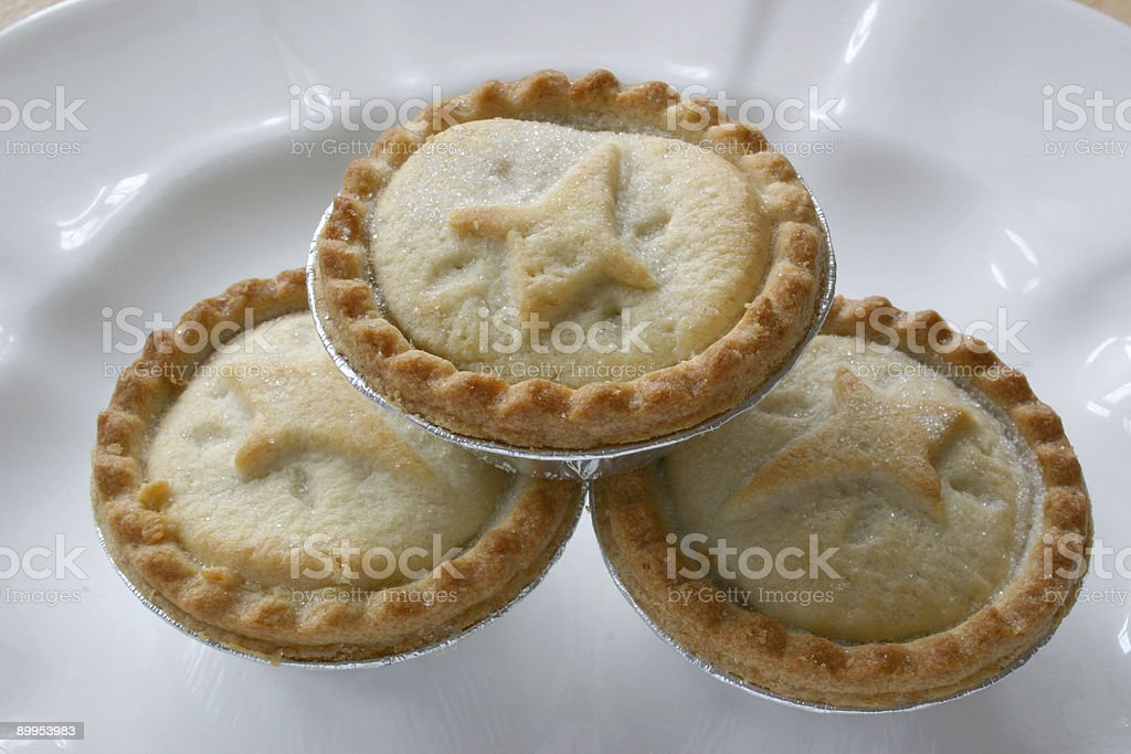 stacked fruit pies royalty-free stock photo