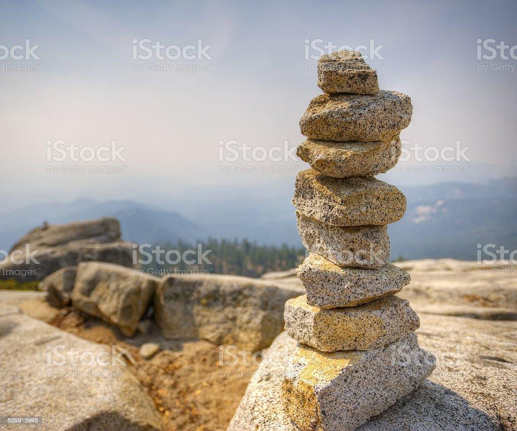 Stacked Granite Rocks stock photo