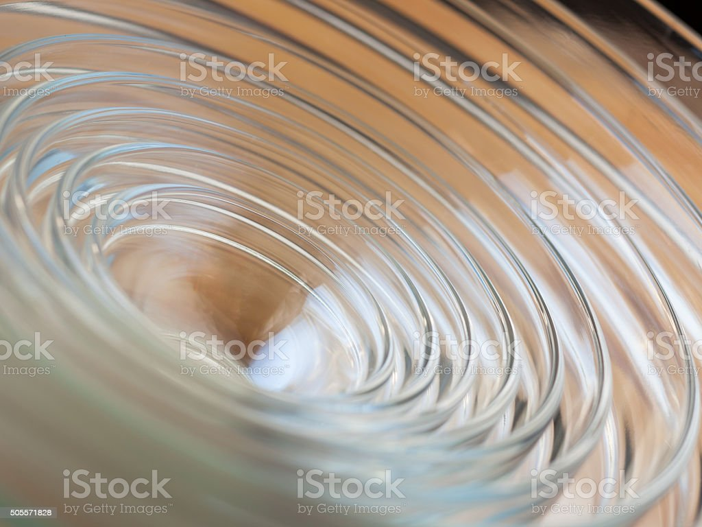 Stacked group of classic glass mixing bowls stock photo
