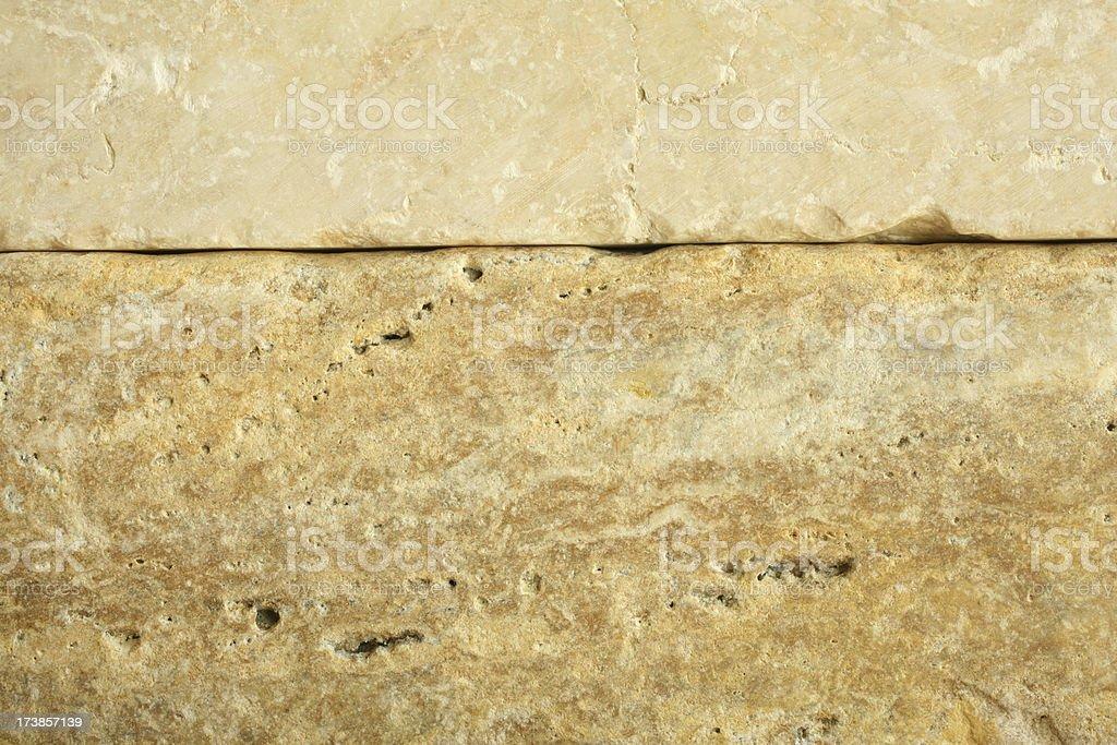 Stacked Limestone and Travertine Stone royalty-free stock photo