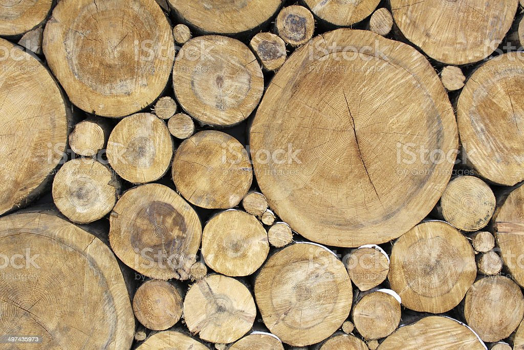 Stacked Logs Background royalty-free stock photo
