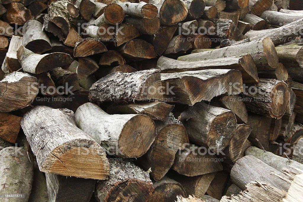 Stacked Logs Wood XXXL royalty-free stock photo