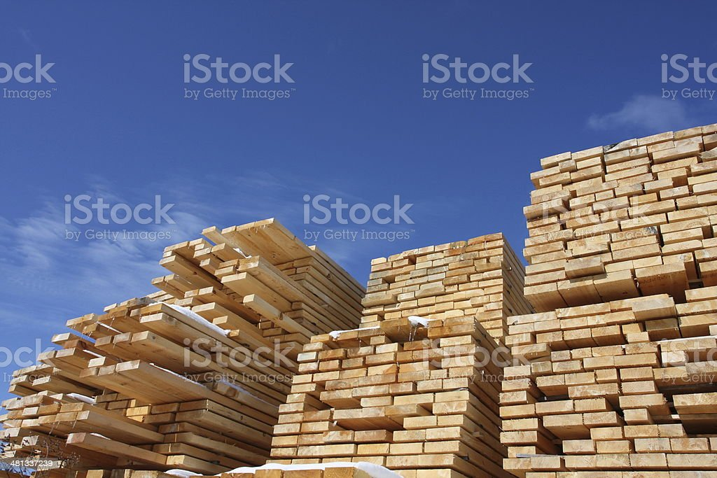 Stacked Lumber, Series stock photo