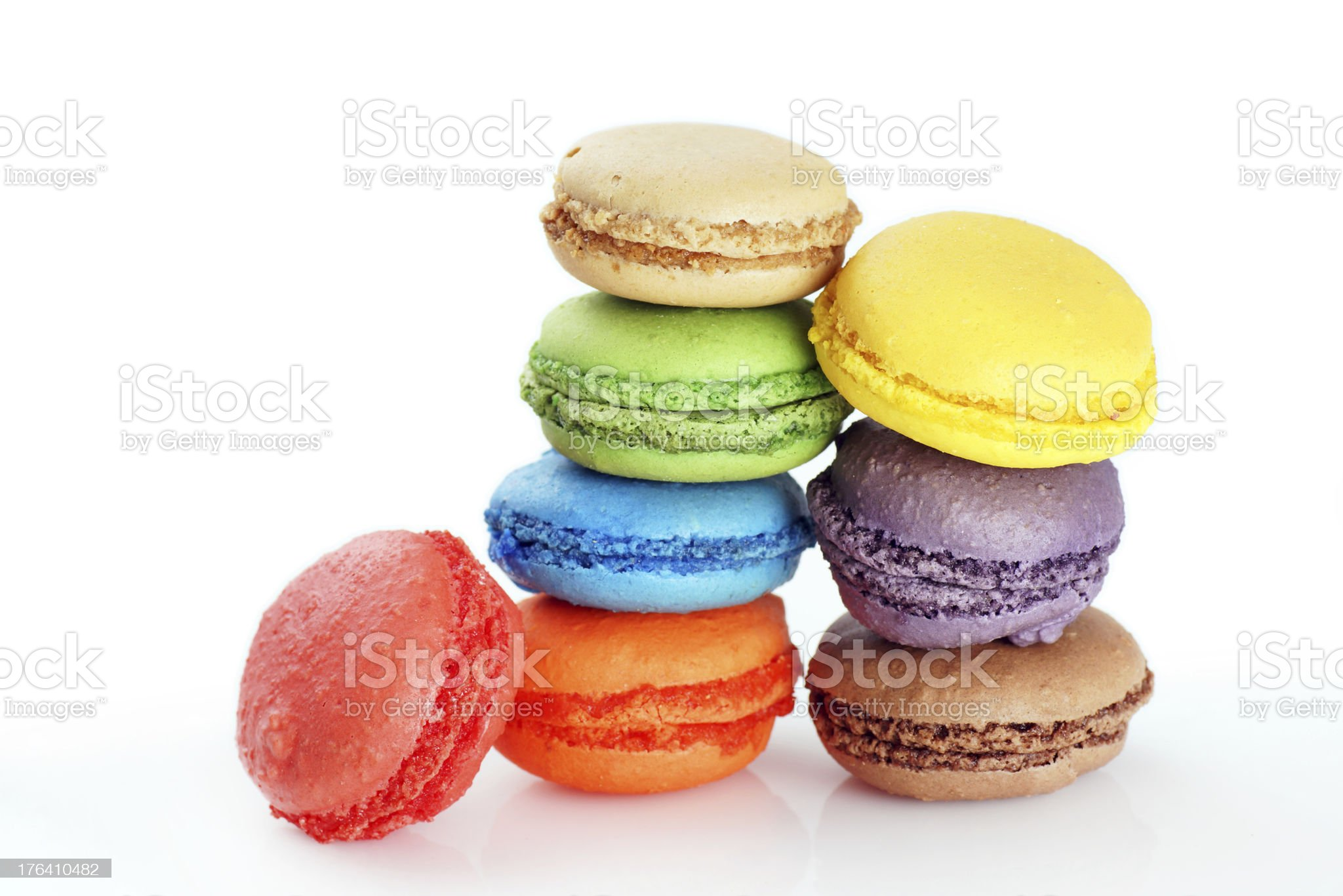 Stacked macaroons royalty-free stock photo