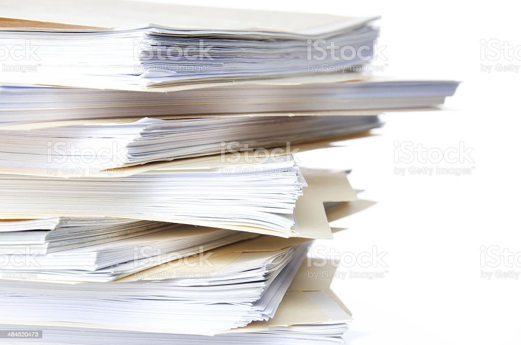 Stacked Manila File Folders royalty-free stock photo