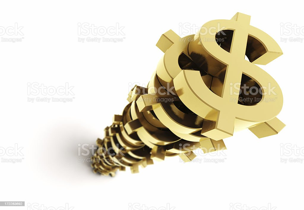 Stacked Money stock photo