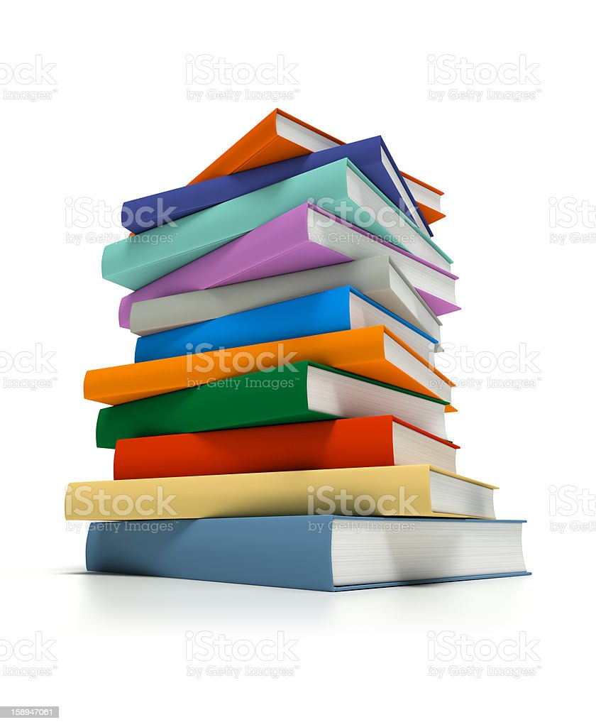 Stacked Multi-Colored Books royalty-free stock photo